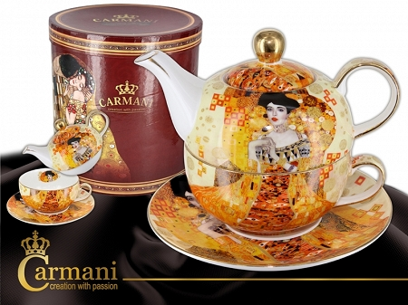Komplet do herbaty 0,35 L Carmani - Gustav Klimt Adele Bloch - Bauer Tea for one 33.532-5105