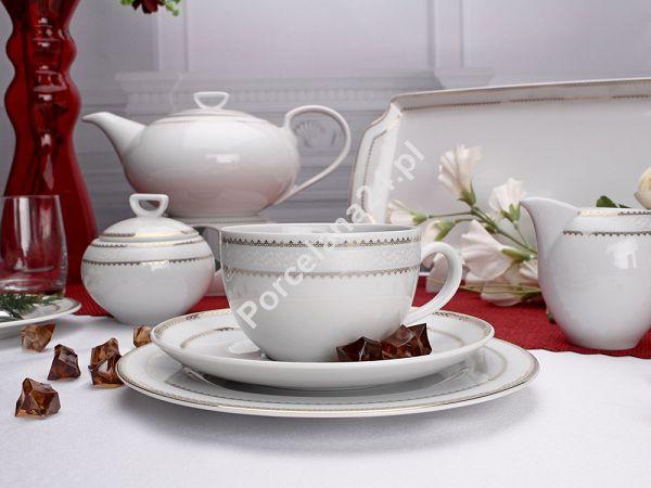 21ddeda233761 Garnitur do herbaty na 12 osób (41 el) Ćmielów - Yvonne G309
